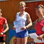 Die besten Damen beim 8 Km-Hauptlauf waren, Katrin Tanzmann (0:32:23h), Jessica Heblack (0:34:23h) und Tina Petzold (0:56:29h)